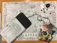 Kata Kumbas - Mappa di Laitia su cotone pesante